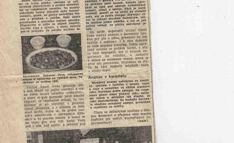 Z kroniky RESTAURACE ASIE v Mladé Boleslavi