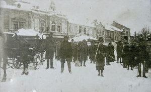Zimní Mladá Boleslav únor 1917