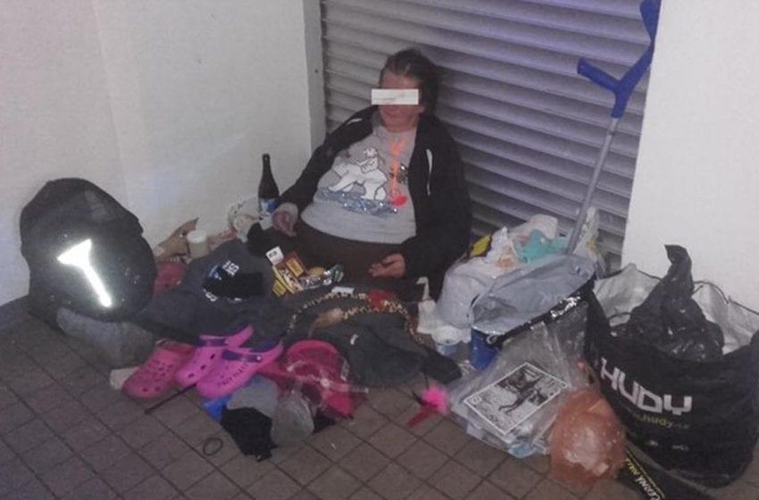 Problémová bezdomovkyně