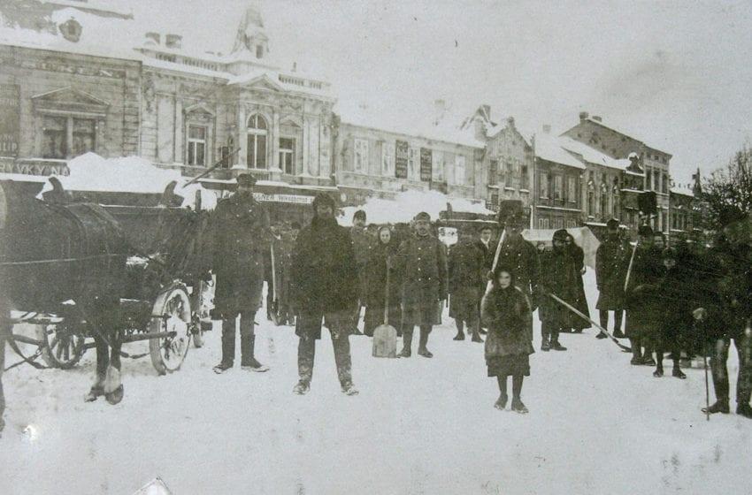 """Vzpomínka na """"sibiřskou zimu"""" roku 1917 v Mladé Boleslavi"""