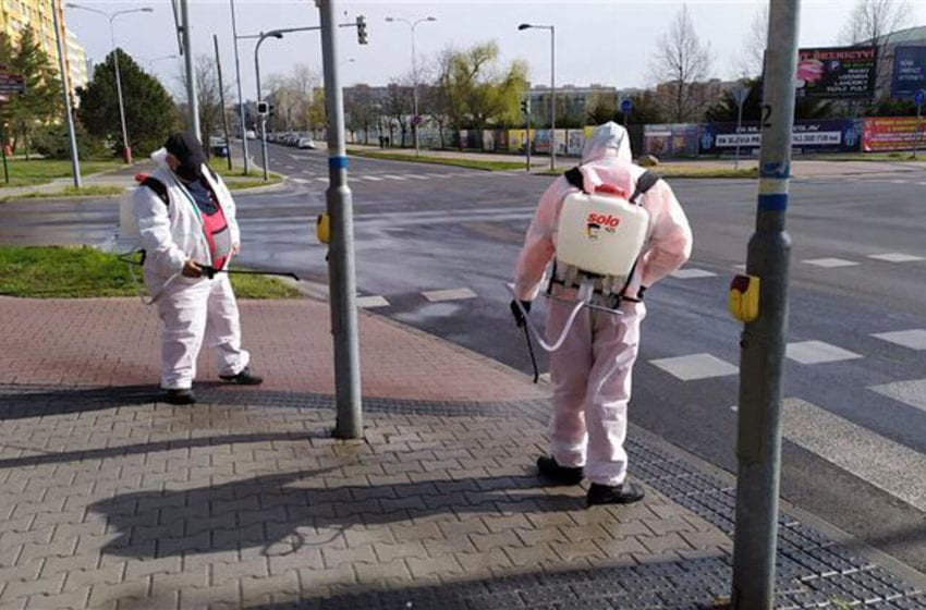 Plošná dezinfekce probíhá v Mladé Boleslavi každý den