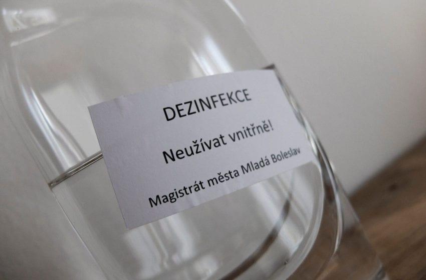 Mladá Boleslav chystá druhou vlnu vydávání dezinfekce občanům