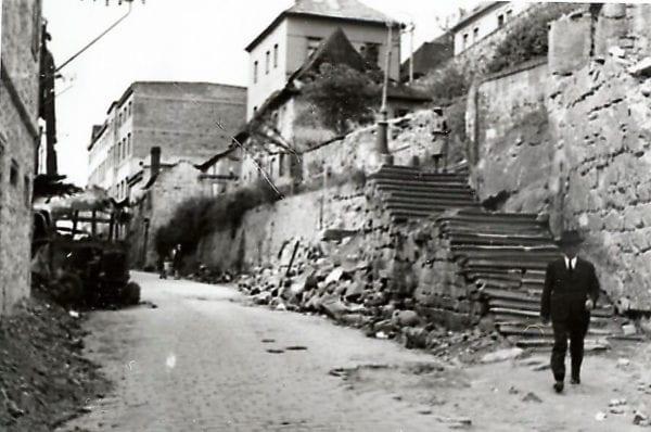 Bombardování Mladé Boleslavi 1945 Bělská ulice