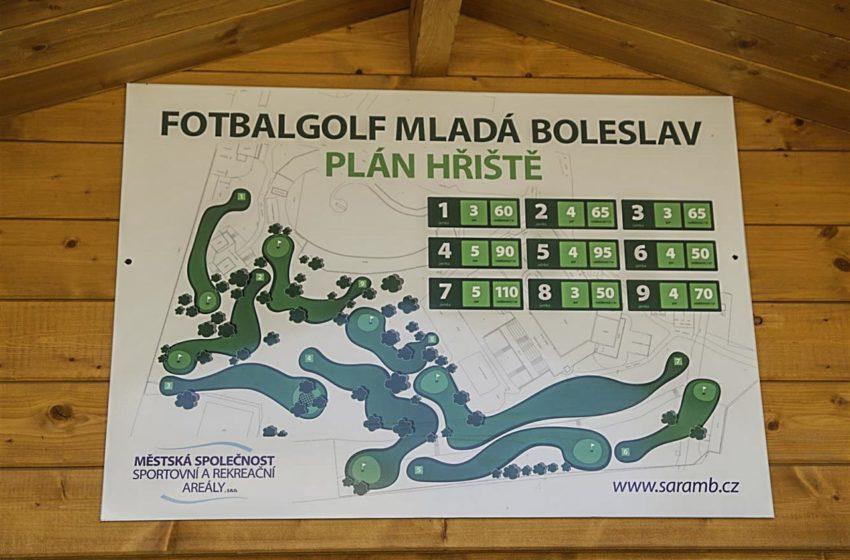 Na koupališti v Mladé Boleslavi si opět můžete zahrát fotbalgolf