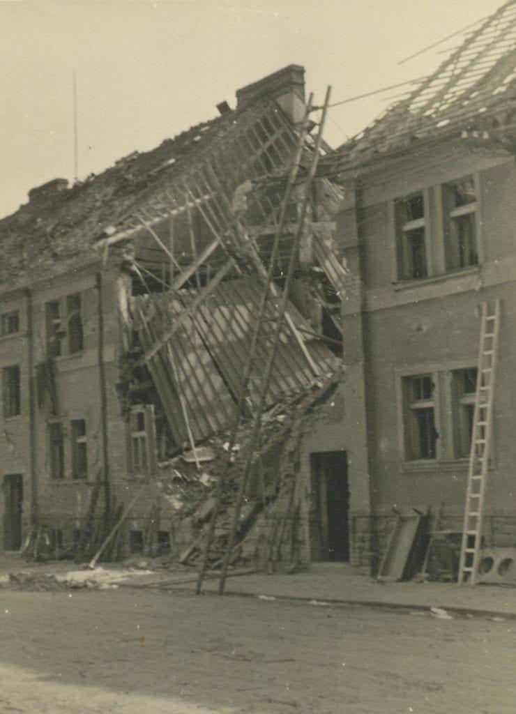 Bombardování Mladé Boleslavi 1945 Štefánikova ulice