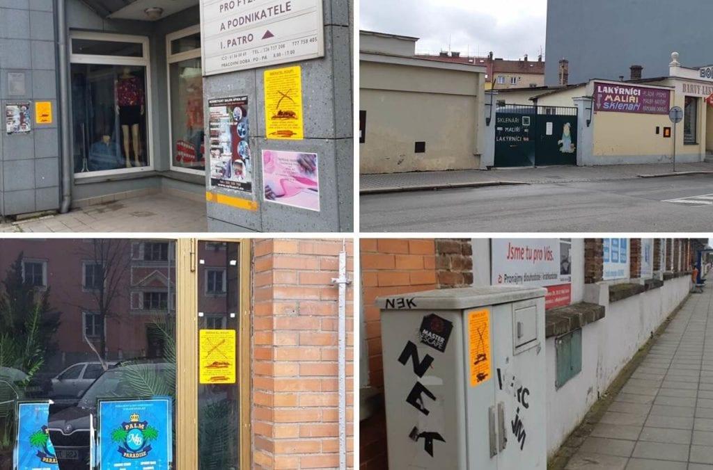 Výlep plakátů po Mladé Boleslavi