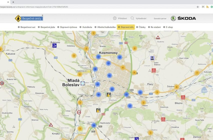 Bezpečnější cesty na Mladoboleslavsku díky interaktivní mapě od Škodovky