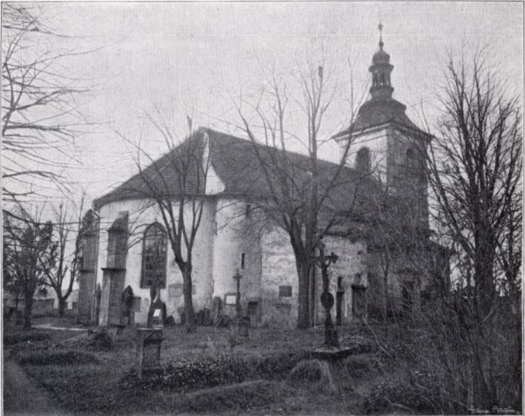 Kostel sv. Havla kolem roku 1900