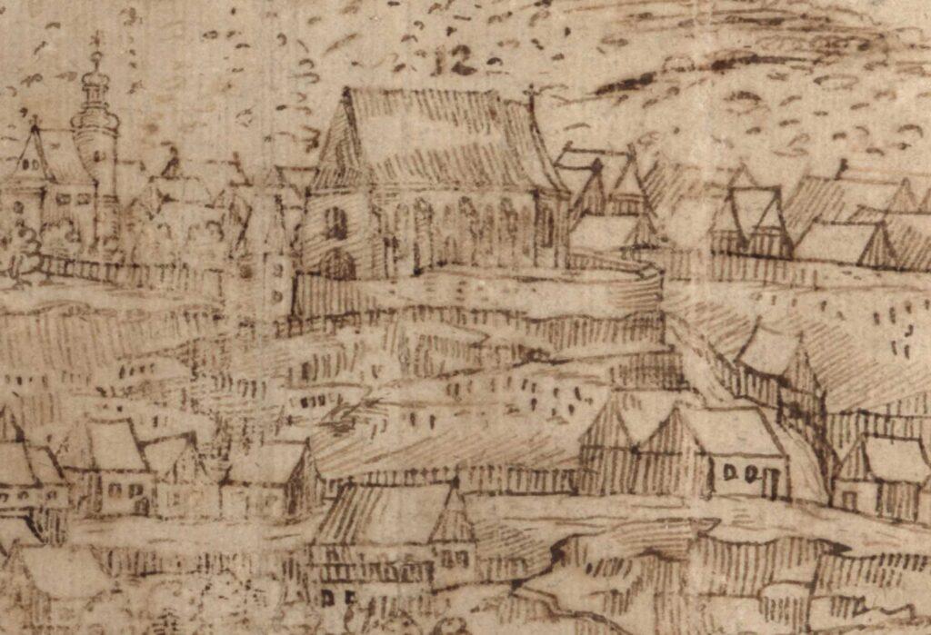 Kostel sv. Havla kolem roku 1600 Mladá Boleslav