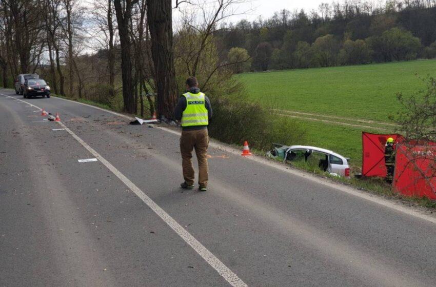 Tragická dopravní nehoda u obce Vinec. Řidič na místě zemřel