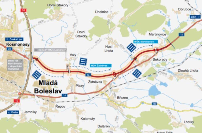 Přeložka silnice I/16 povede od Kosmonos přímo do Martinovic