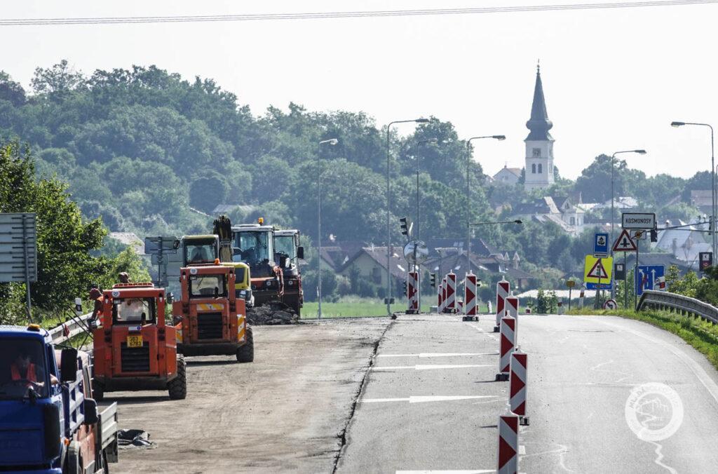 Oprava silnice 1/38 Debř Kosmonosy