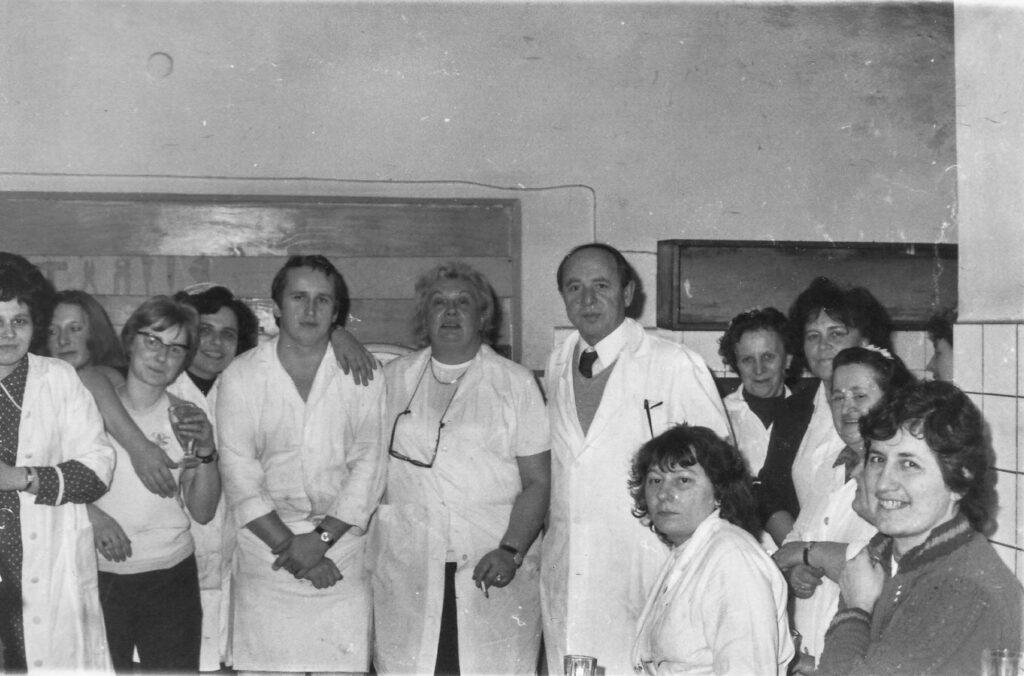 Kolektiv bufetu Čas v Mladé Boleslavi 70. léta 20. století